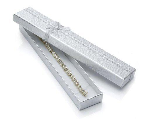 silvity 354-20 - Scatola regalo per bracciali, con fiocco, 20 x 2 x 1 cm colore: oro cod. 355-20-M 355-200