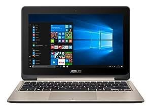 "ASUS TP201SA-FV0019T - Portátil con pantalla táctil de 11.6"" HD (Intel Celeron N3060 , RAM de 4 GB, 500 GB HDD, Intel HD Graphics, Windows 10 Original) metal dorado - Teclado QWERTY Español"