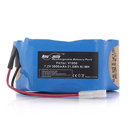 Powerextra High Capacity 7.2V NiMH Battery Pack for Euro-Pro Shark Cordless Sweeper V1950 VX3 Replacing XB1918