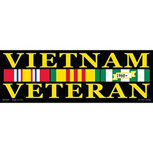 """Veteran Vietnam War Bumper Sticker 3-1/4""""X9"""""""