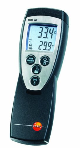 Testo 0560 9250 ABS Dual Type K Thermocouple Infrared Thermometer, -58 to 1832 Degree F Range, 9V Battery