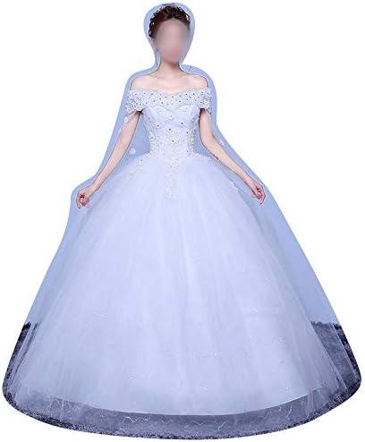 Rocke Brautkleid Abendkleid New Lace Chiffon Brautkleid (Size : XXL)