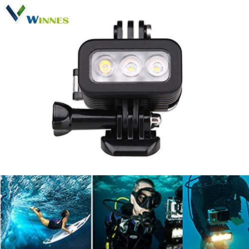 (Winnes Professional Diving Light, Underwater Lights with 60 Bright LED Submarine Light Scuba Safety Lights Waterproof Underwater Torch Video Light 30m for Outdoor Under Water Sports (B - Horizontal) )