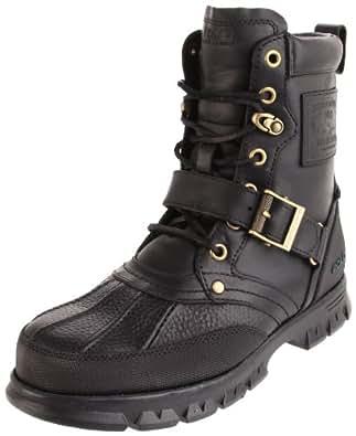 Polo Ralph Lauren Men's Tenard Hiking Boot,Black,7.5 D US