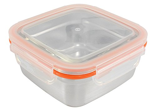 Friendly Hippo (Mighty Hippo Square Stainless Steel Super Container - Extra Large XL / Leak Proof / Dishwasher Safe / Reusable / Food Safe / Storage / Lunch and Snack Box /)
