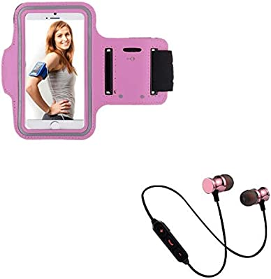 Pack Deportivo para Huawei P Smart Z Smartphone (Auriculares Bluetooth Metal + Brazalete) Courir T8 (Rosa): Amazon.es: Electrónica