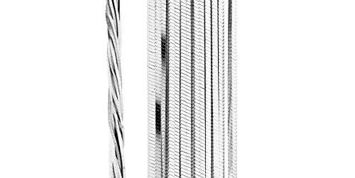 Clio Blue Collier plastron New Multichaines en argent 925 rhodié, 45.2g