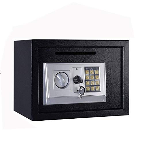 WSJTT Digital Safe Box Electronic Cabinet Wall Mounted Weatherproof Key Lock Storage with Posting Slot for Home Office…