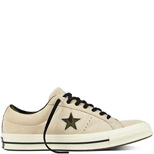 Lifestyle Ox Unisex de Star Zapatillas Blanco Adulto Herbal Black One Egret Converse Nubuck Deporte 107 fwnUqRRdx