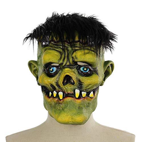 Mokna Halloween Plant VS Green Face Zombie Mask