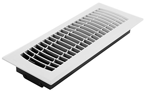 - Accord APFRWHL412 4-Inch by 12-Inch Plastic Floor Register, White (Duct Opening Measurement)