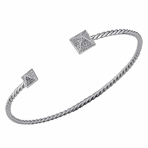 Bracelet 18k or blanc bracelet de diamants 0.3ct 112 [AA1100]