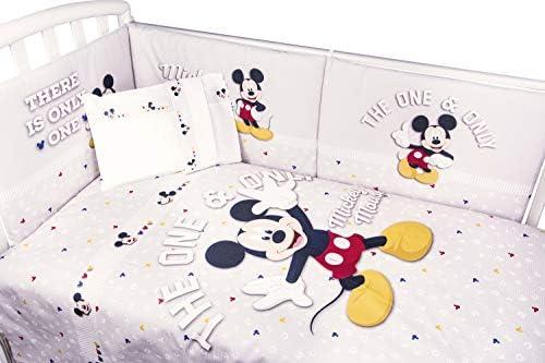 Disney - Edredón de 5 piezas de Mickey Mouse con protector de cuna ...