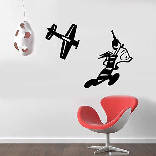 Remote Control Airplane Funny Removable Wall Sticker Art Home Office Room Mural Decor Vehicle Car Truck Window Bumper Graphic Decal- (8 inch) / (20 cm) Wide MATTE GREEN Color