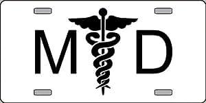 MD Medical Doctor Logo Emblem License Plates