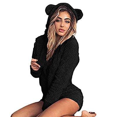 TAGGMY Jumpsuits for Womens for Home Service Fuzzy Oversize, Elegant Ladies Casual Hooded Cute Rompers Overalls Playsuit