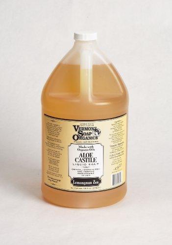 Vermont Soap Organics – Lemongrass Zen Liquid Aloe Castile Soap Gallon For Sale