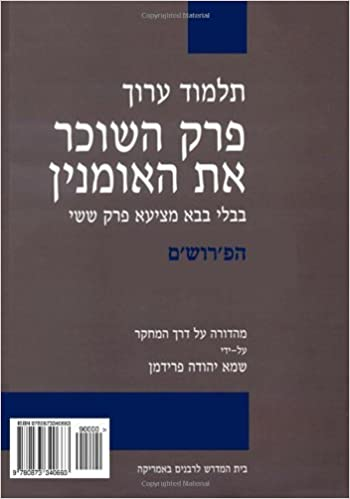 Book Talmud Arukh: BT Bava Mezi'a VI, Commentary: Critical Edition with Comprehensive Commentary (Volume 2) (Hebrew Edition) by Shamma Yehuda Friedman (2014-01-30)