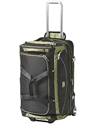 Travelpro Luggage T-Pro Bold 26 Inch Drop Bottom Rolling Duffel Bag, Black/Green, One Size