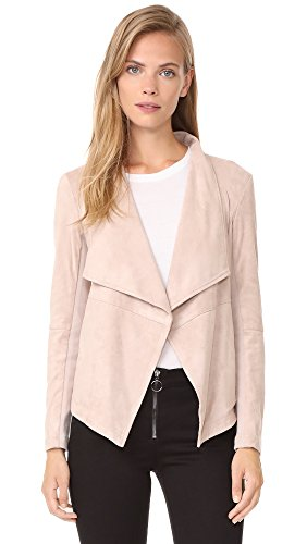 (BB Dakota Women's Wade Faux Suede Jacket, Parchment, Pink, Tan, Small)