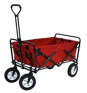 Mac Sports Folding Utility Sports Wagon Deep Red