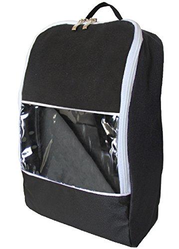 Waterproof Shoe Bag Travel Sports Gym Carry Storage Case(Black) - 1