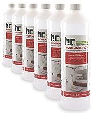 Höfer Chemie 6 x 1 L bio-ethanol 100% zuiver voor ethanolhaard, ethanolbranders, tafelhaard en bio-ethanolhaard