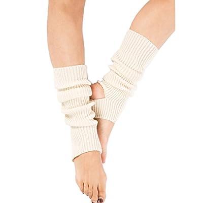 Yoga Socks for Women Girls Workout Socks Toeless Training Dance Leg Warmers