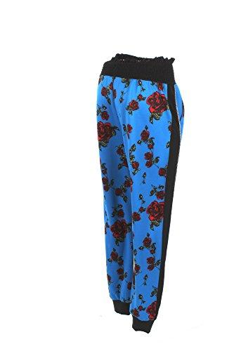 Pantalone Donna Pinko 42 Blu/rosso Violoncello Autunno Inverno 2017/18