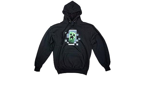 Jinx hombre oficial Mojang Minecraft Creeper & Moon Sudadera Con Capucha Sudadera Tallas M L XL - Negro, Medium: Amazon.es: Ropa y accesorios