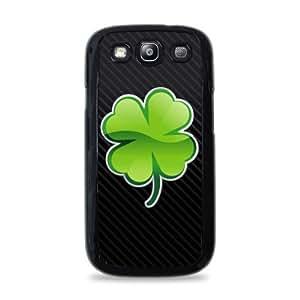 803 Four Leaf Clover Samsung Galaxy S3 Hardshell Case - Black