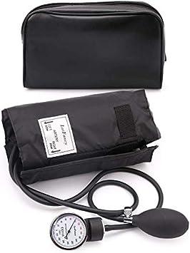 LotFancy Esfigmomanómetro Aneroide, Tensiometro Monitor Profesional de Presión Arterial Manual, Manguito Adulto Grande con Estuche - Negro (25-40cm): Amazon.es: Salud y cuidado personal