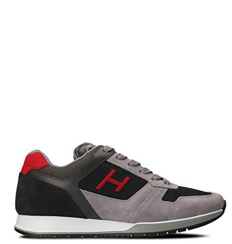 Hogan Mannen Hxm3210y861i7g786z Grijs Lederen Sneakers