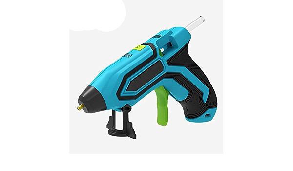 Herramienta de pegamento de fusi/ón en caliente con bater/ía recargable de 2600 mAh IWILCS Mini pistola de pegamento caliente pistola de fusi/ón con 10 barras de pegamento