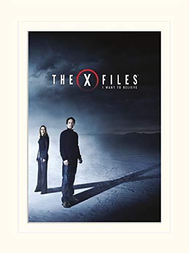 30 x 40 x 1.3 cm Pyramid International The X-Files I Want to Believe Paper Multicoloured -Mounted Print Memorabilia 30 x 40cm