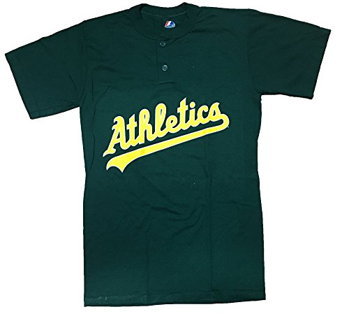 MLB Oakland Athletics Two Button Men's Jersey Shirt (Small)