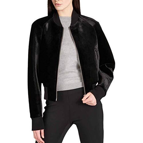 DKNY Women's Zip Front Velour Bomber Jacket -
