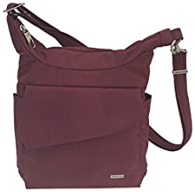 Travelon Anti-Theft Messenger Bag (Wine/Coral Lining)