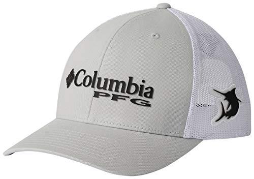 Columbia Unisex PFG Mesh Snap Back Ball Cap,Cool Grey, Marlin