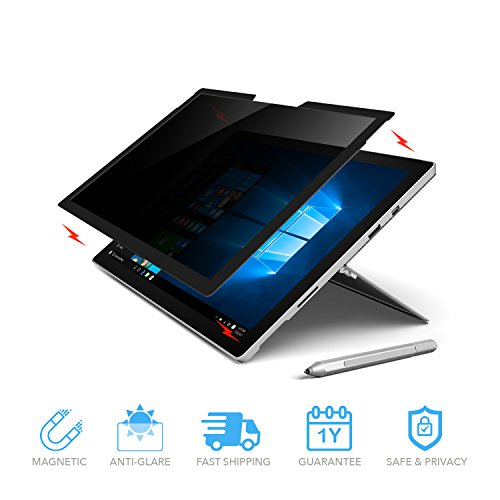 Microsoft Surface Pro Magnetic Privacy Anti-Glare Screen Protector | Anti-Spy Glass Screen Film (Surface Pro (2017) / Surface Pro 4) by ZBRANDS