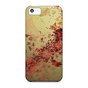 New Style Tpu 5c Protective Case Cover/ Iphone Case - Splash Of Red