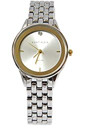 ANNE KLEIN Diamond Accent Silver Tone Bracelet Women's Watch