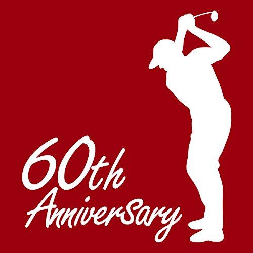ゴルフ(男性) 60th Anniversary シニアゴルファー お祝いポロシャツ 還暦ポロシャツ 大人用