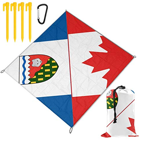 (XL-HUALA Northwest Territories Canada Flag Picnic Blanket Outdoor Beach Blanket 57¡åx59¡å - Waterproof Lightweight Used for Indoor and Outdoor Activities, Festival Events, Hiking, Camping, Traveling.)