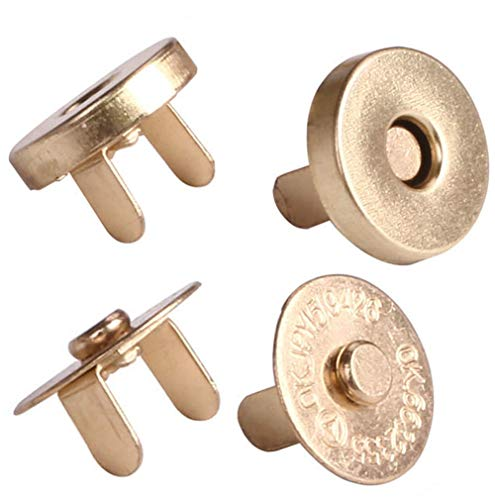 Mini Skater Bags & Totes 18mm Snap Closure, 6-Pack (18mm, Gold) ()