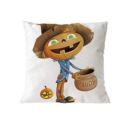 Halloween Pillow Case Pgojuni Throw Pillow Cover Cushion Polyester Cover Pillow Case Home Decor 1pc (45cm X 45cm) (F) by Pgojuni_Pillowcases (Image #1)