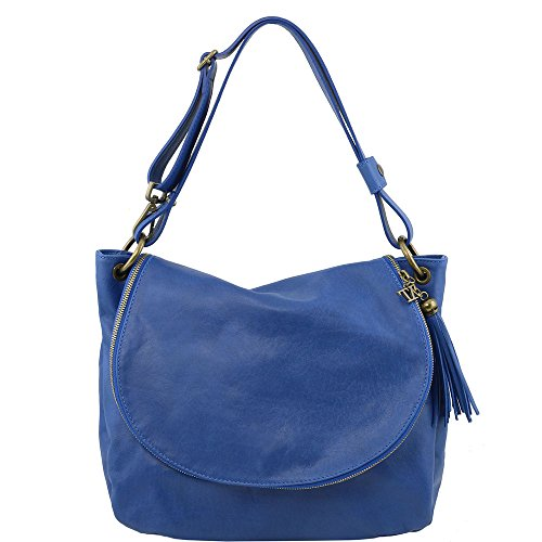 TUSCANY LEATHER TL141110, Borsa a spalla donna Blu blu compact