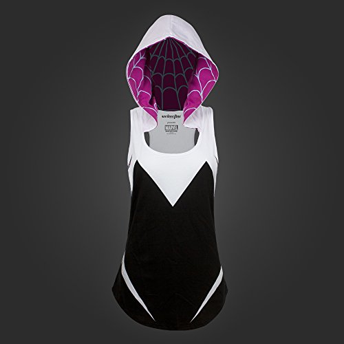 Stacy Gwen Costume Comic (Spider-Gwen Costume Hooded Juniors Tank Top)