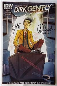 SIGNED Chris Ryall & Arvind Ethan David DIRK GENTLY #1 RARE Ashcan