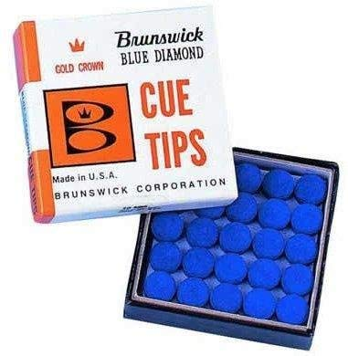 Blue diamond pool//snooker 10mm tips inc Free Delivery